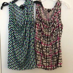 Worthington sleeveless blouse 2 for $9